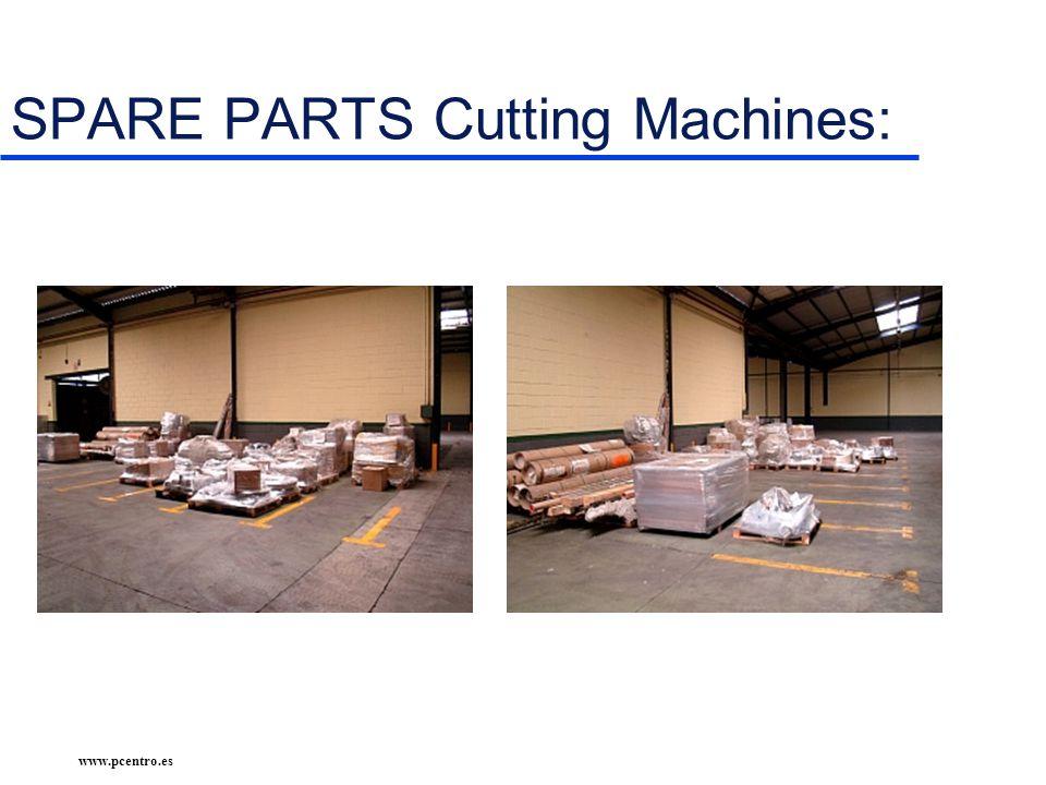 www.pcentro.es SPARE PARTS Cutting Machines:
