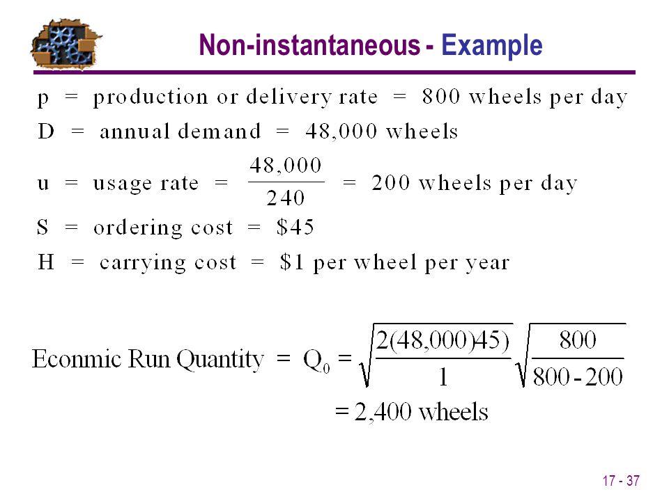 17 - 37 Non-instantaneous - Example