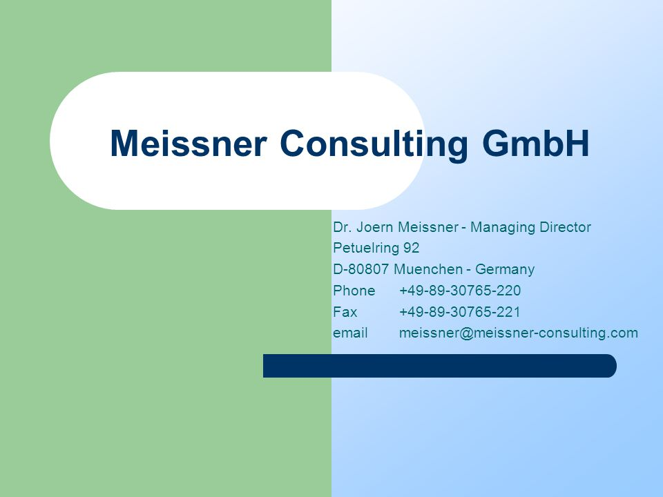 Meissner Consulting GmbH Dr.