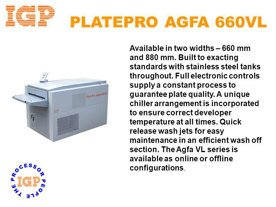 AGFA Accredited Approved for high quality processing of all Lithostar products Automated Developer Repl.