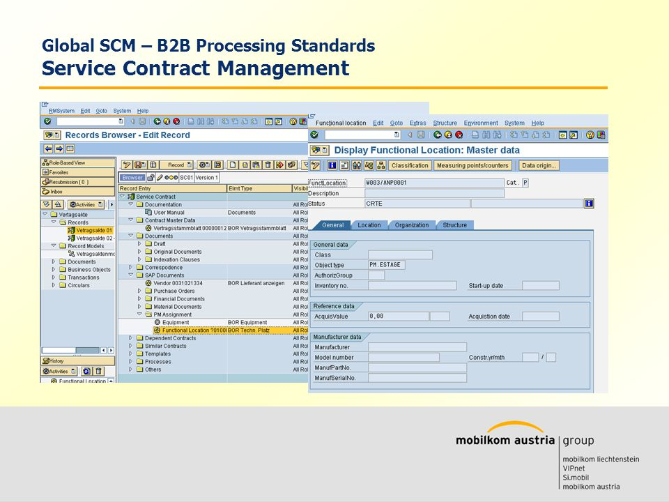 Volkmar Wille Ernst Klaus Global SCM – B2B Processing Standards Service Contract Management