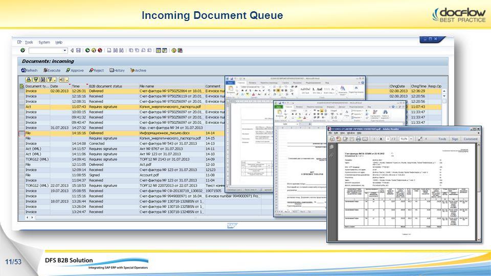 Incoming Document Queue 11/53