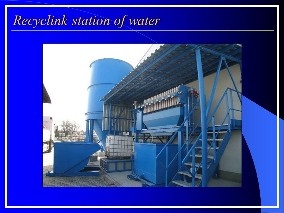 Recyclink station of water Filter press measurements according to filter plate size: