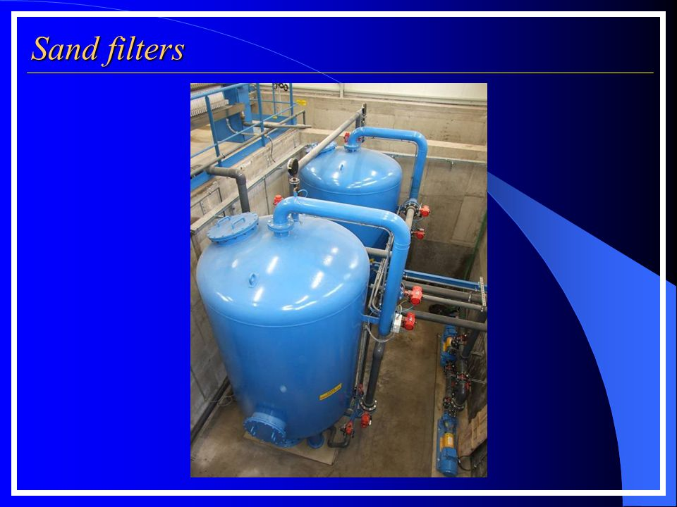 Sand filters Filter press measurements according to filter plate size: