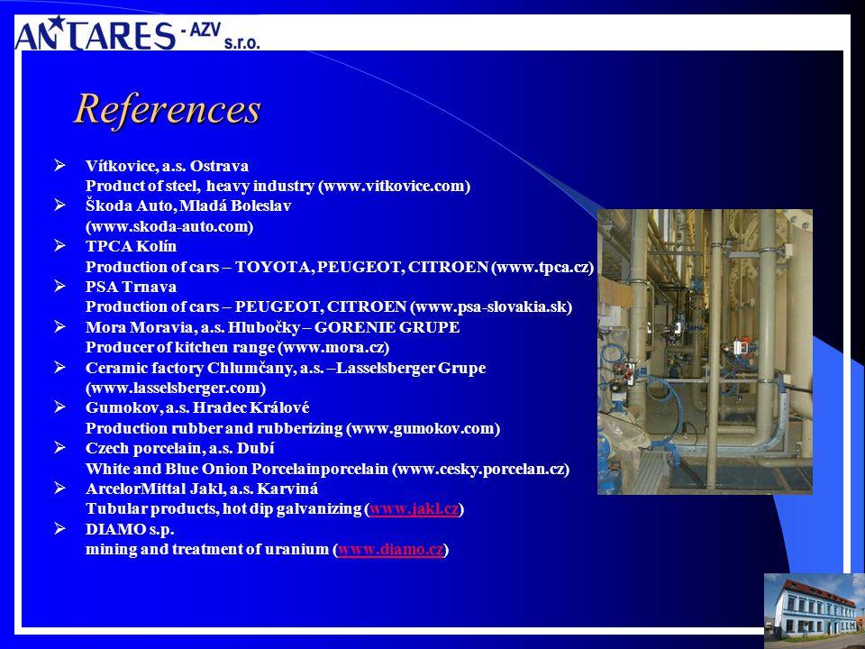 References Vítkovice, a.s.