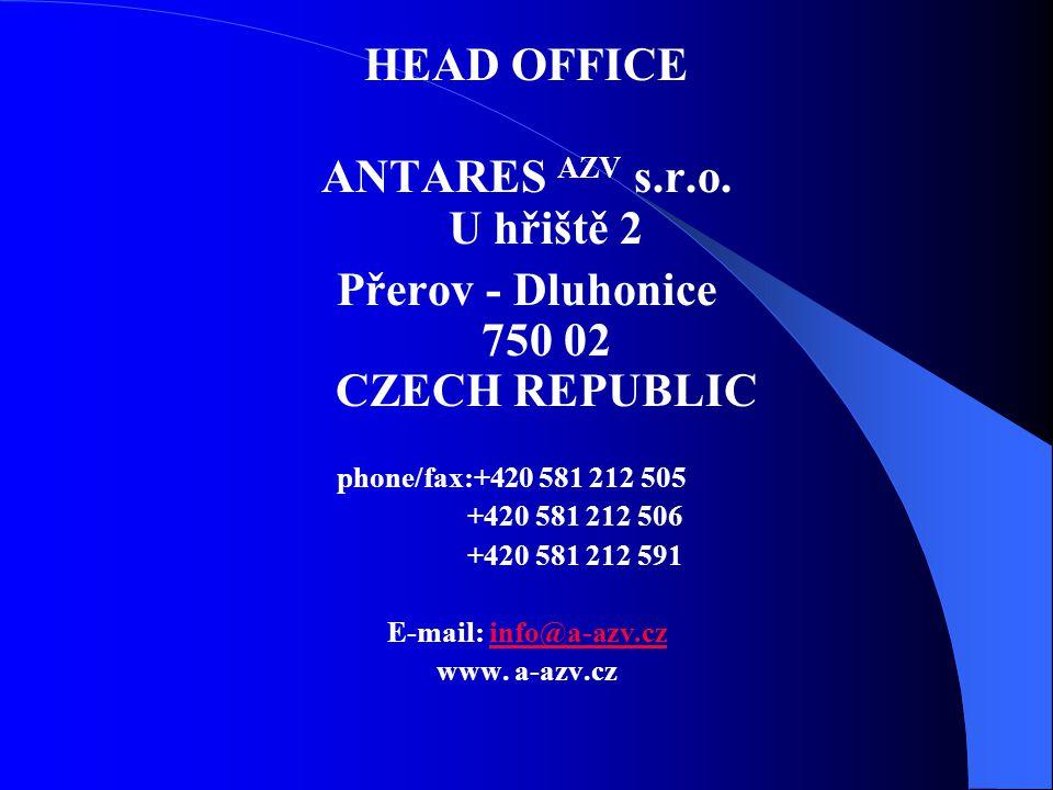 HEAD OFFICE ANTARES AZV s.r.o.