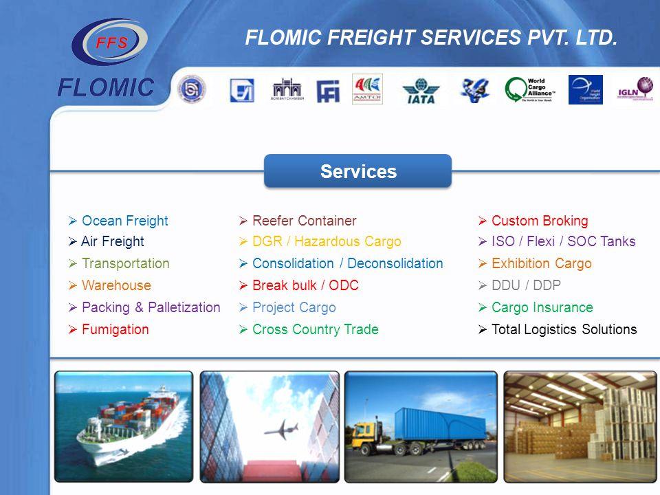 Reefer Container DGR / Hazardous Cargo Consolidation / Deconsolidation Break bulk / ODC Project Cargo Cross Country Trade Custom Broking ISO / Flexi /