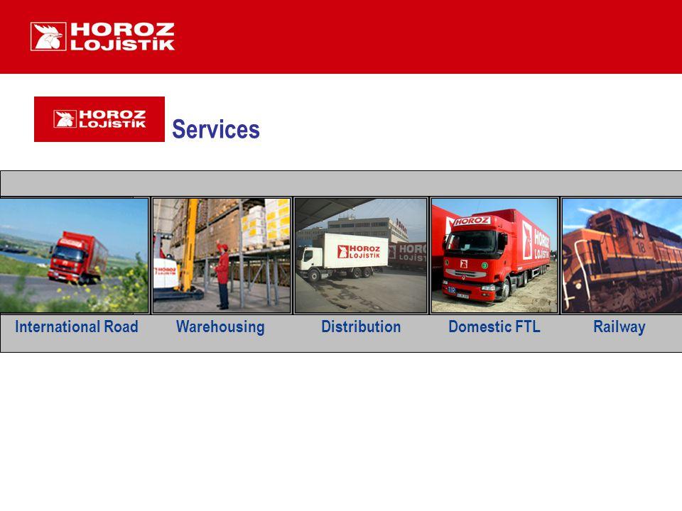 Services International Road WarehousingDistribution Domestic FTL Railway Railway