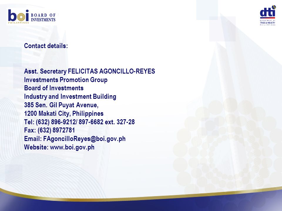 Contact details: Asst.
