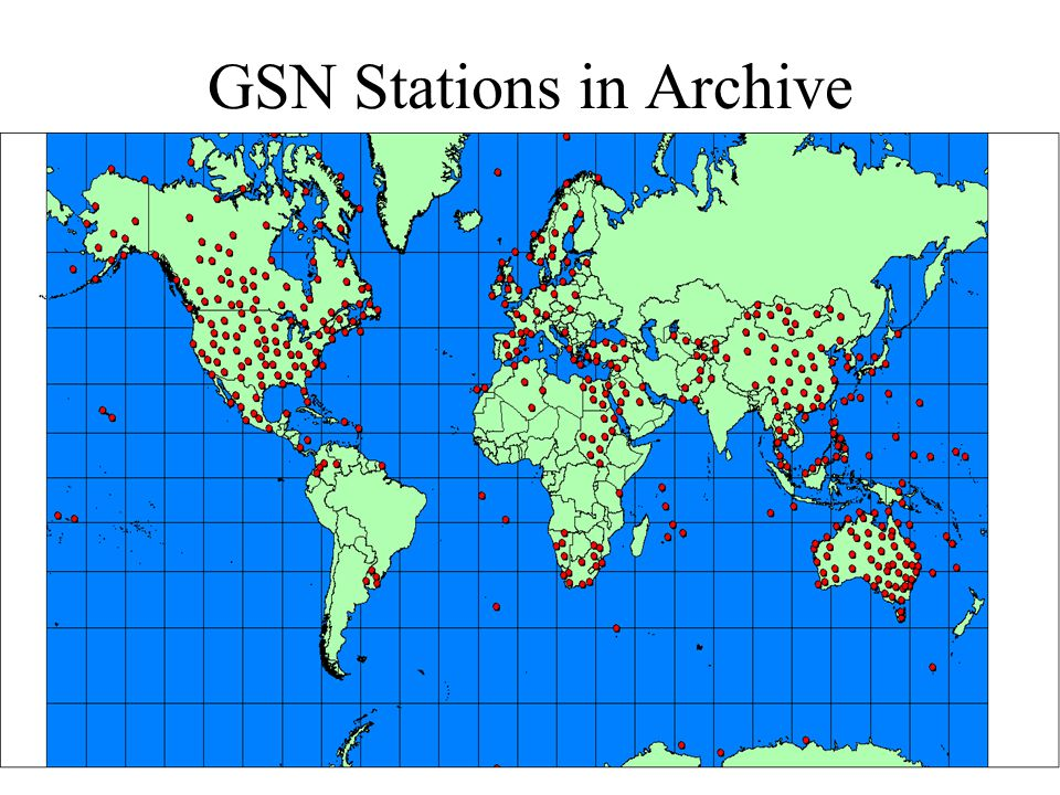 GSN Stations in Archive