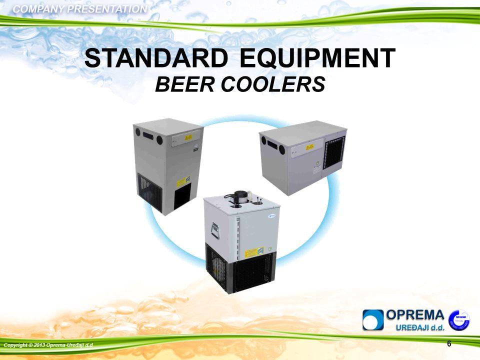 6 STANDARD EQUIPMENT BEER COOLERS