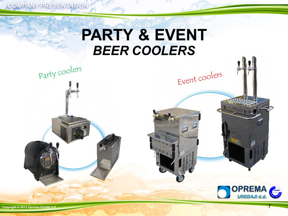 7 PARTY & EVENT BEER COOLERS Party coolers Event coolers