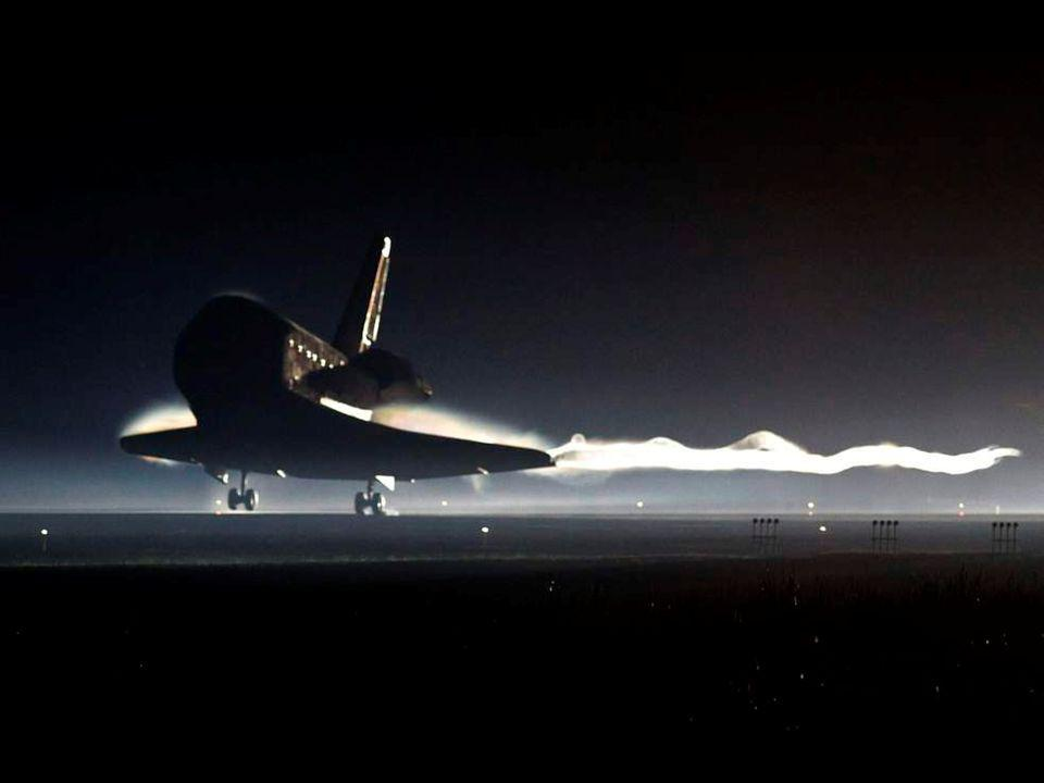 Atlantis lands on July 21, 2011 at Kennedy Space Center in Florida, ending its 13-day mission. July 21, 2011