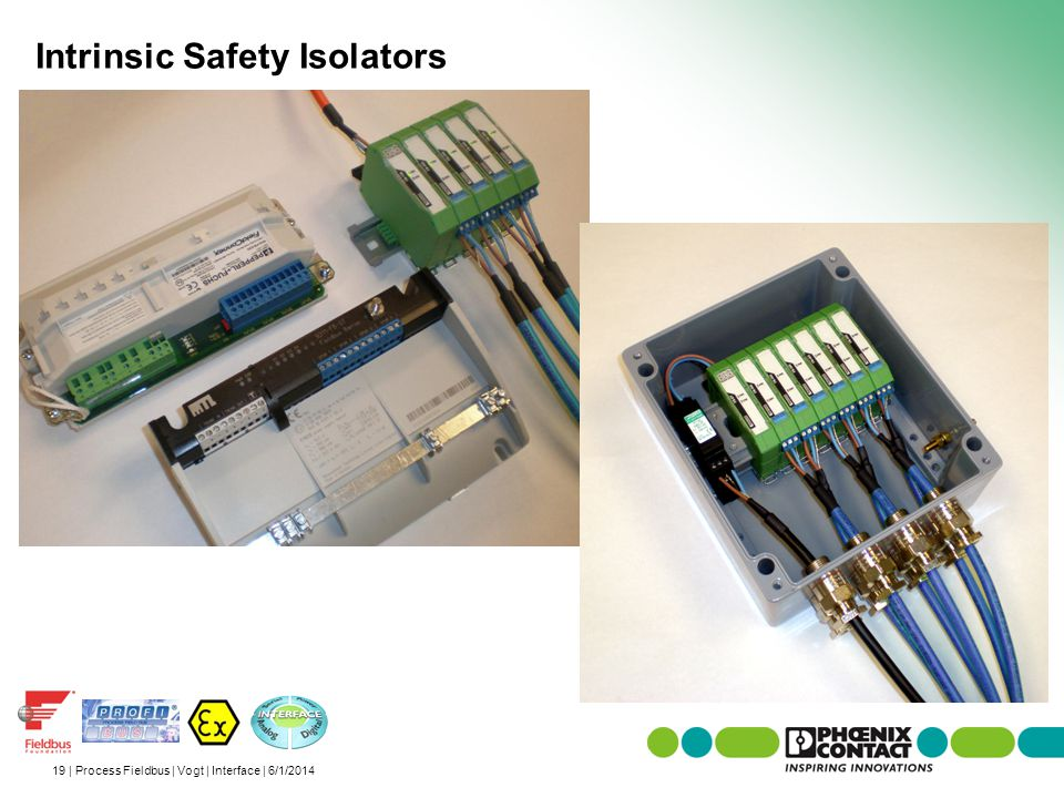 19 | Process Fieldbus | Vogt | Interface | 6/1/2014 Intrinsic Safety Isolators