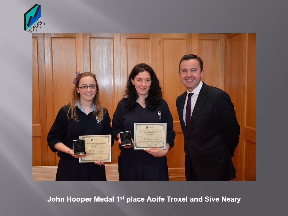 Dee King Teacher 1 st place John Hooper medal