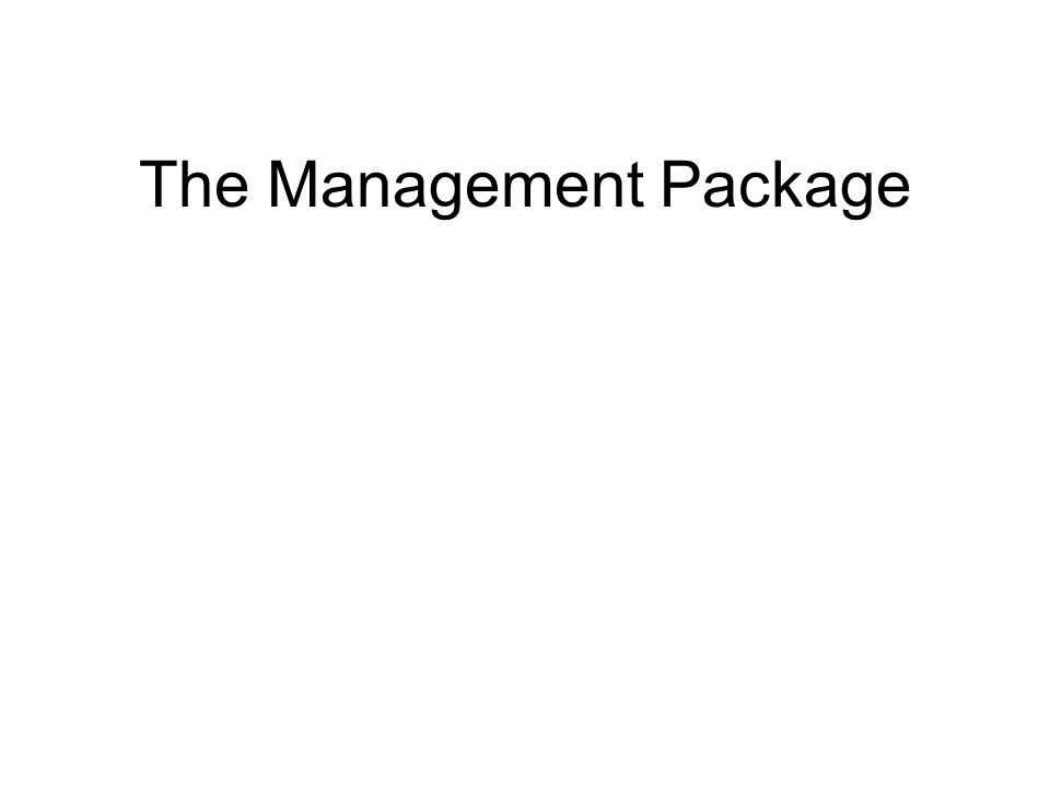 The Management Package