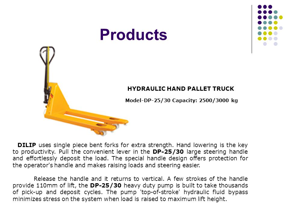 Profile DILIP MATERIAL HANDLING EQUIPMENT started nearly a decade ago by an technocrat with two decade of experience in the relevant field of realisti