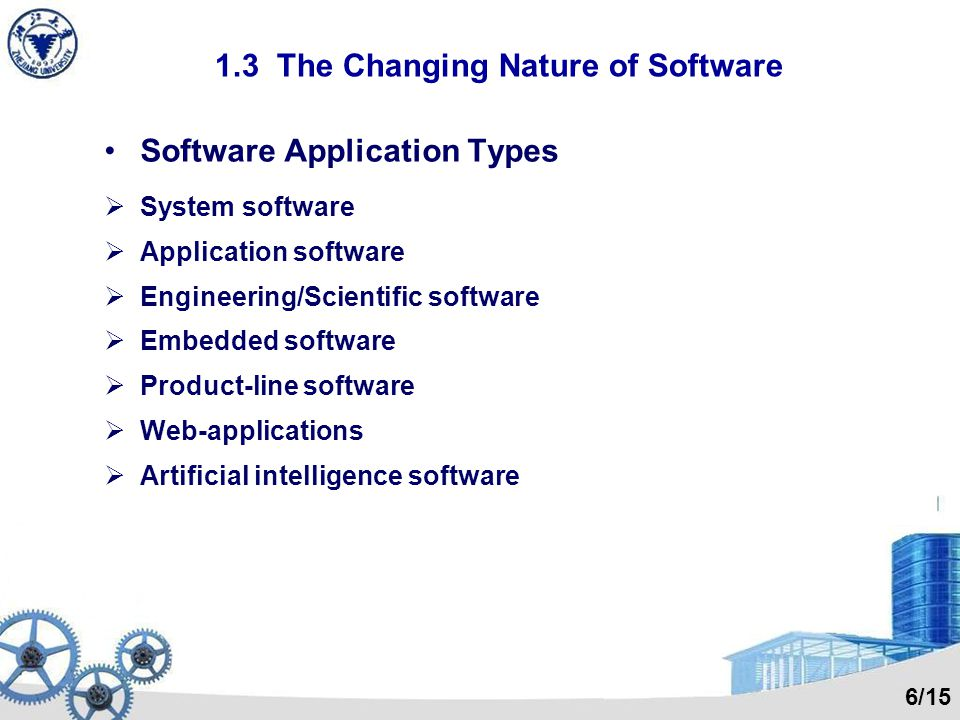 1.2 Software Software doesnt wear out.