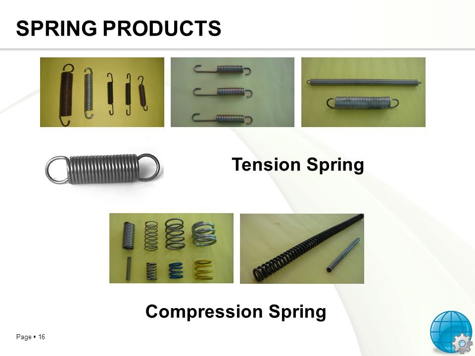 Page 16 SPRING PRODUCTS Tension Spring Compression Spring
