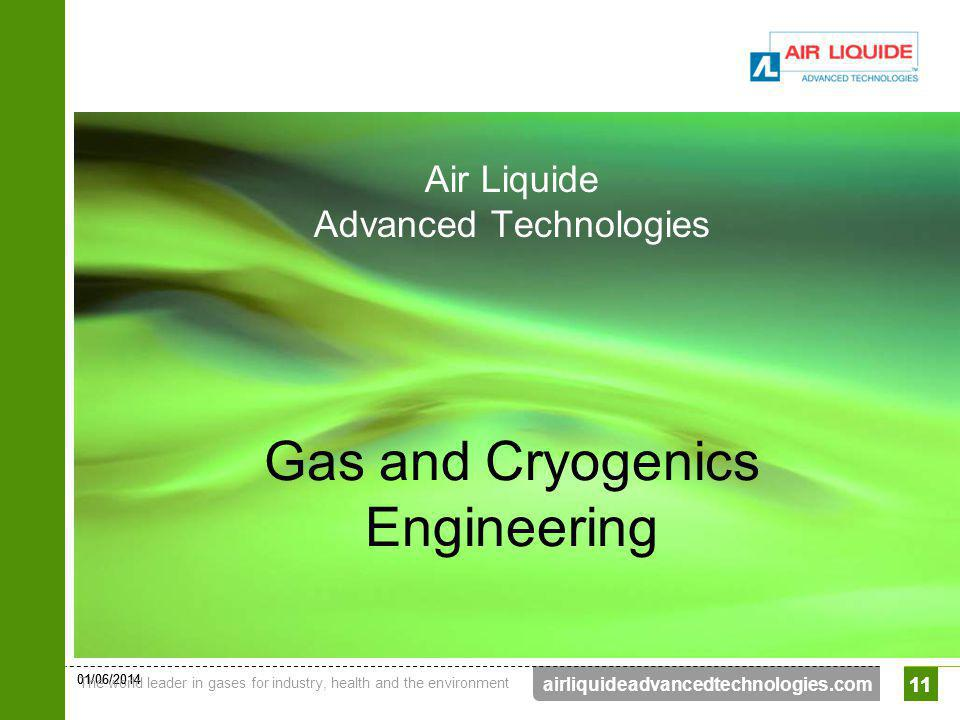 01/06/2014 The world leader in gases for industry, health and the environment 11 airliquideadvancedtechnologies.com 11 Gas and Cryogenics Engineering