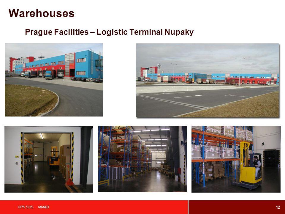 12 UPS SCS MM&D Prague Facilities – Logistic Terminal Nupaky Warehouses
