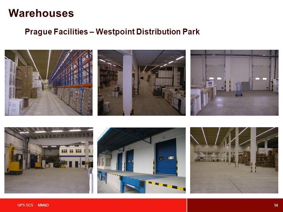 14 UPS SCS MM&D Prague Facilities – Westpoint Distribution Park Warehouses