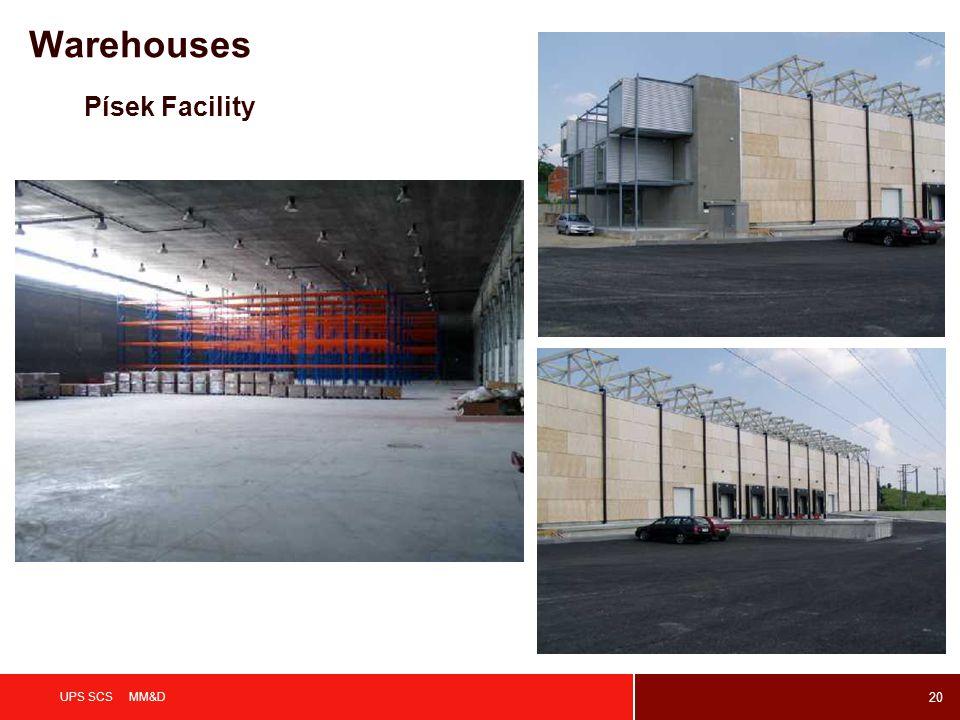 20 UPS SCS MM&D Písek Facility Warehouses