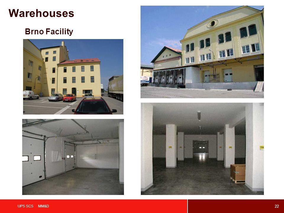 22 UPS SCS MM&D Brno Facility Warehouses