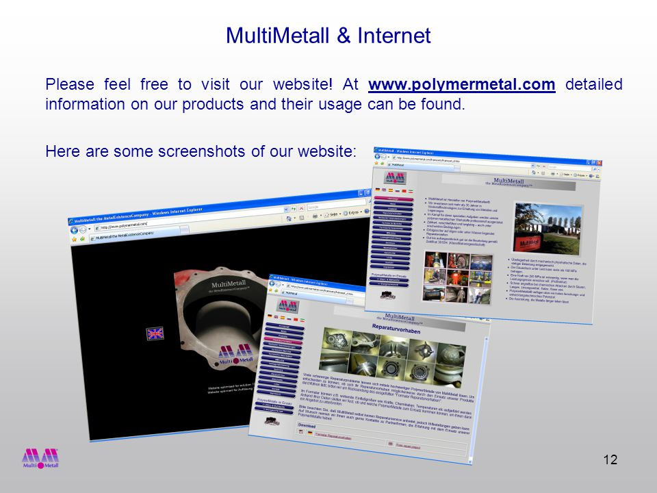 12 MultiMetall & Internet Please feel free to visit our website.