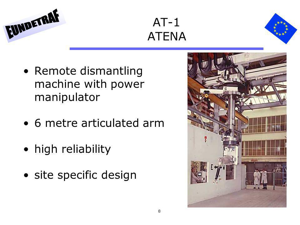 8 AT-1 ATENA Remote dismantling machine with power manipulator 6 metre articulated arm high reliability site specific design