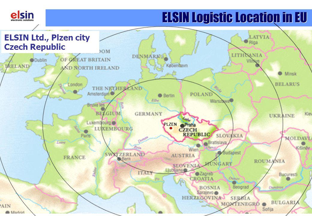 ELSIN Logistic Location in EU PLZEN ELSIN Ltd., Plzen city Czech Republic