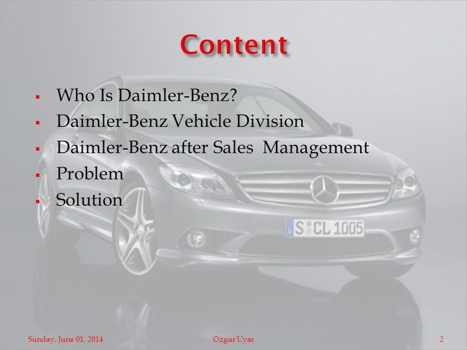 Who Is Daimler-Benz.