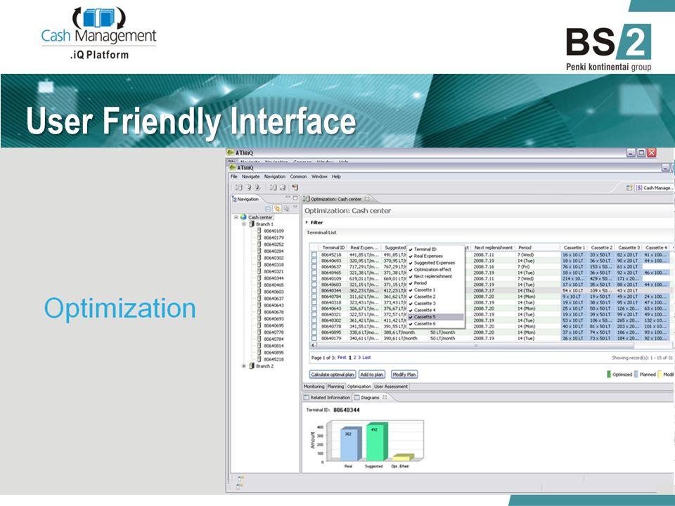 User Friendly Interface 01/06/2014.iQ Cash Management 10