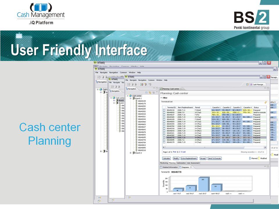 User Friendly Interface 01/06/2014.iQ Cash Management 12