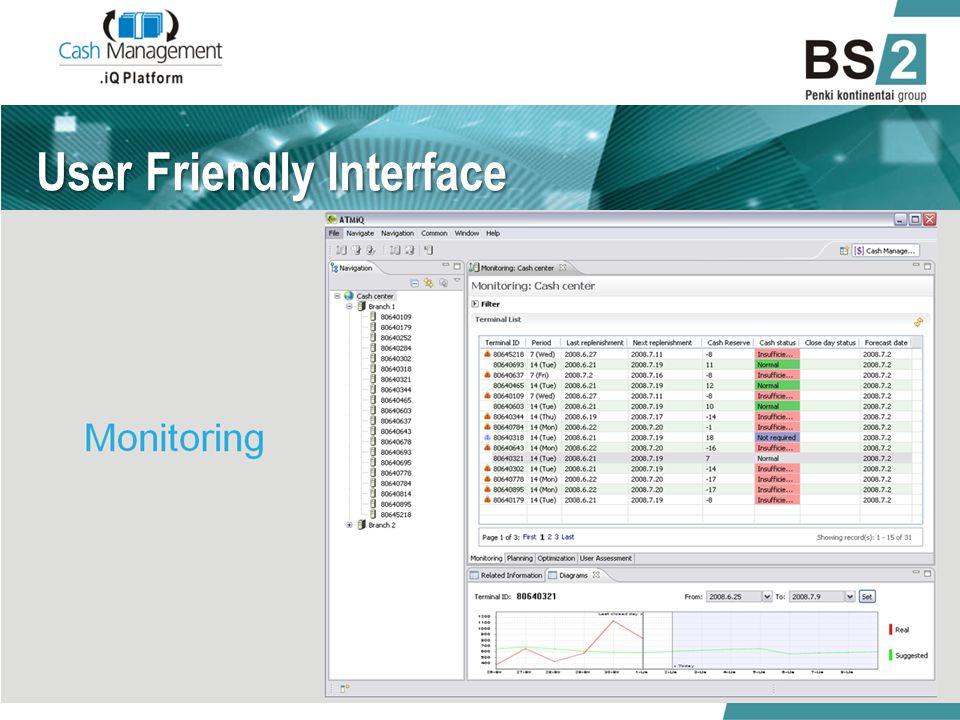 User Friendly Interface 01/06/2014.iQ Cash Management 9
