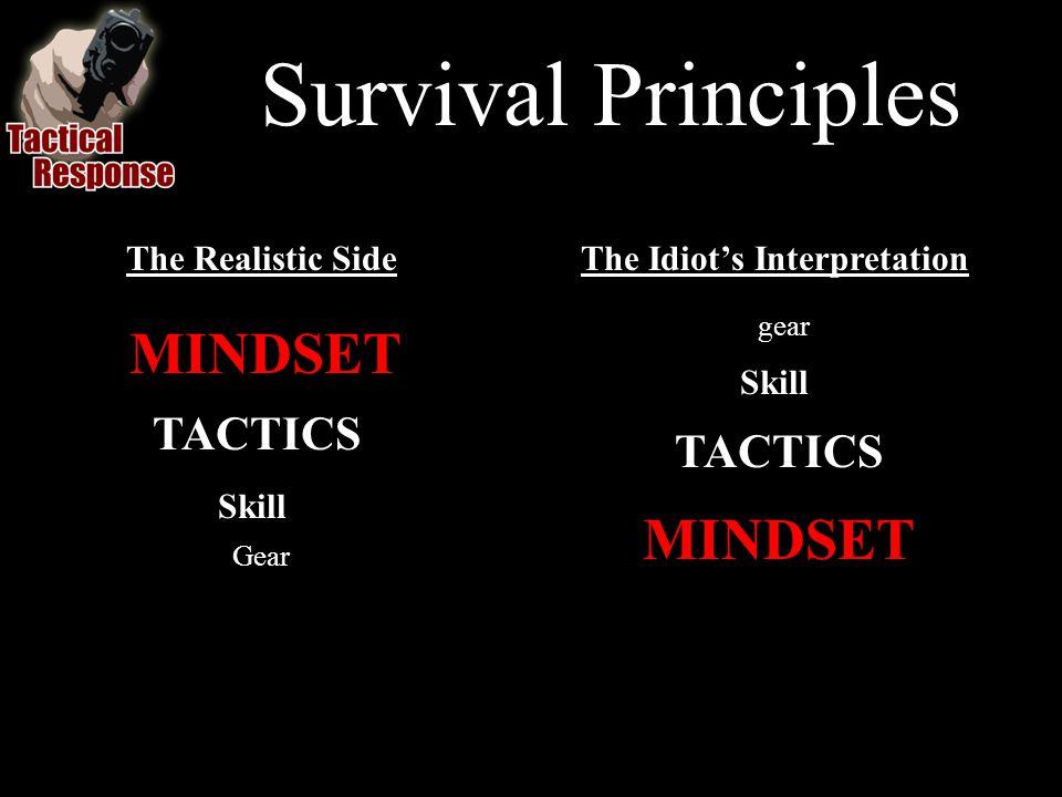 The Realistic Side MINDSET TACTICS Skill Gear The Idiots Interpretation gear Skill TACTICS MINDSET Survival Principles