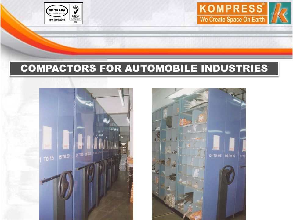 COMPACTORS FOR AUTOMOBILE INDUSTRIES