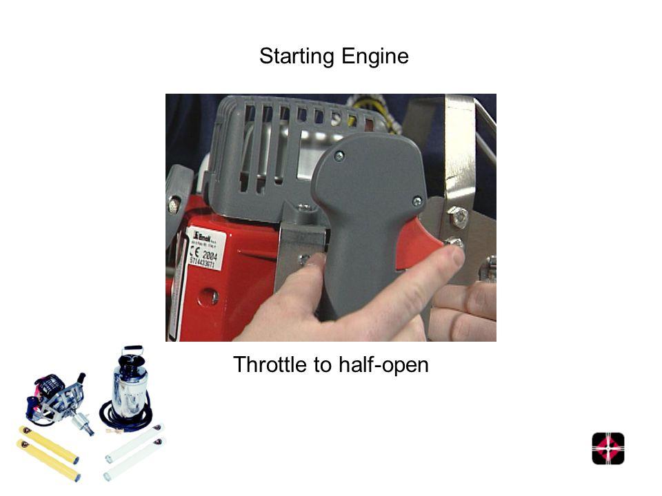 Starting Engine Throttle to half-open