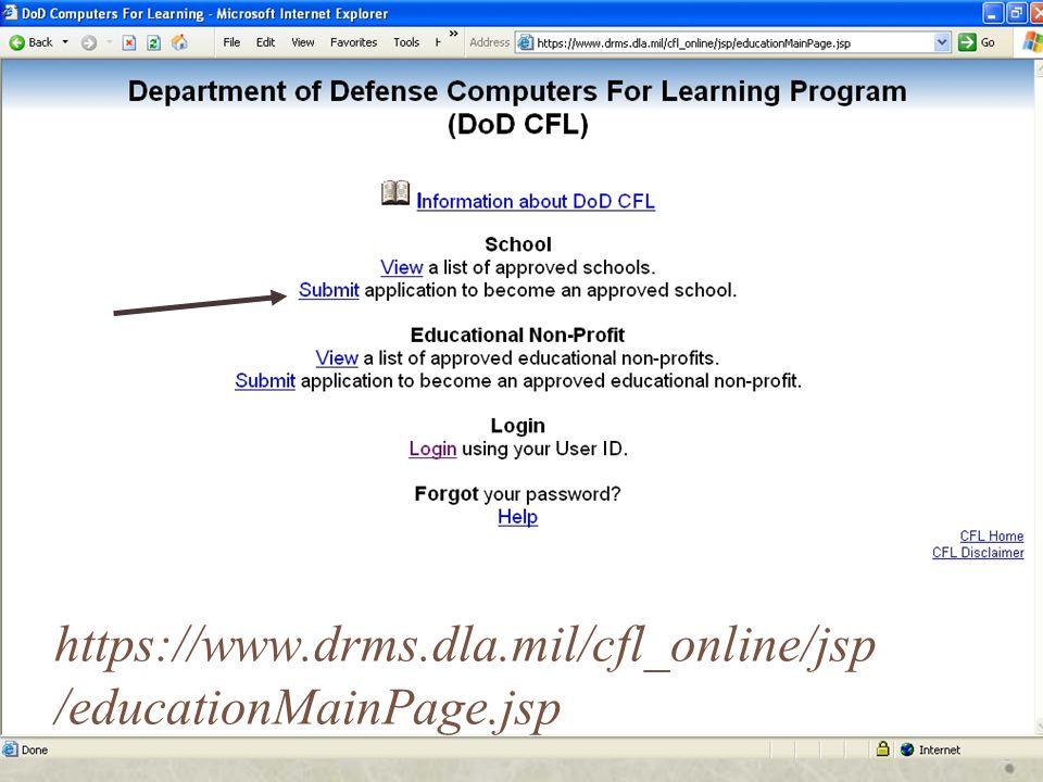https://www.drms.dla.mil/cfl_online/jsp /educationMainPage.jsp