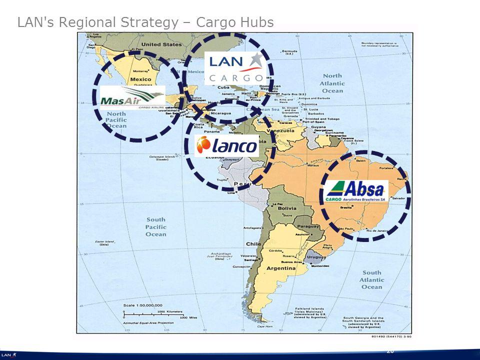 20 LAN s Regional Strategy – Cargo Hubs