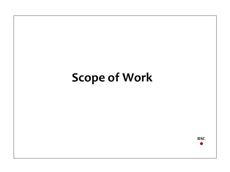 Scope of Work RSC