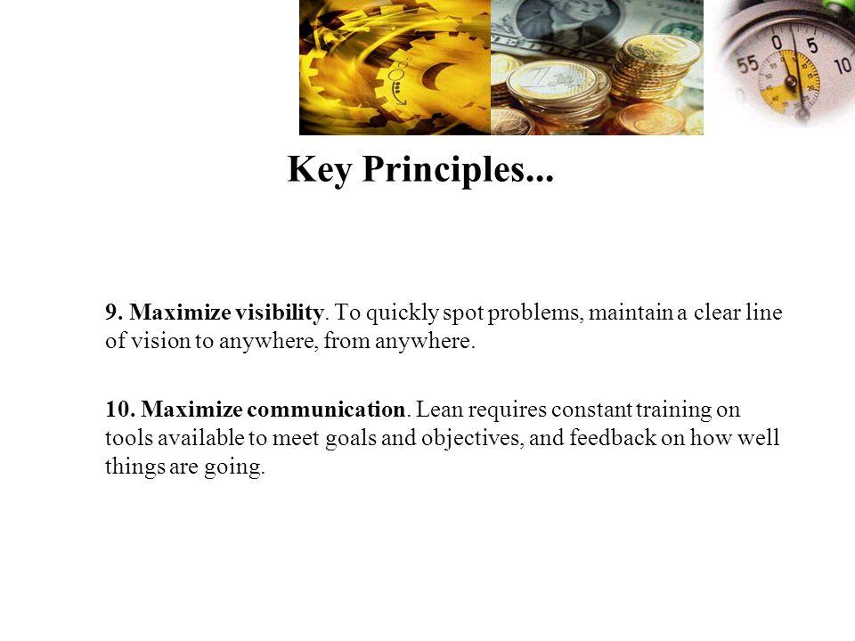 Key Principles...9. Maximize visibility.