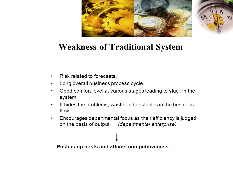 Weakness of Traditional System Risk related to forecasts.