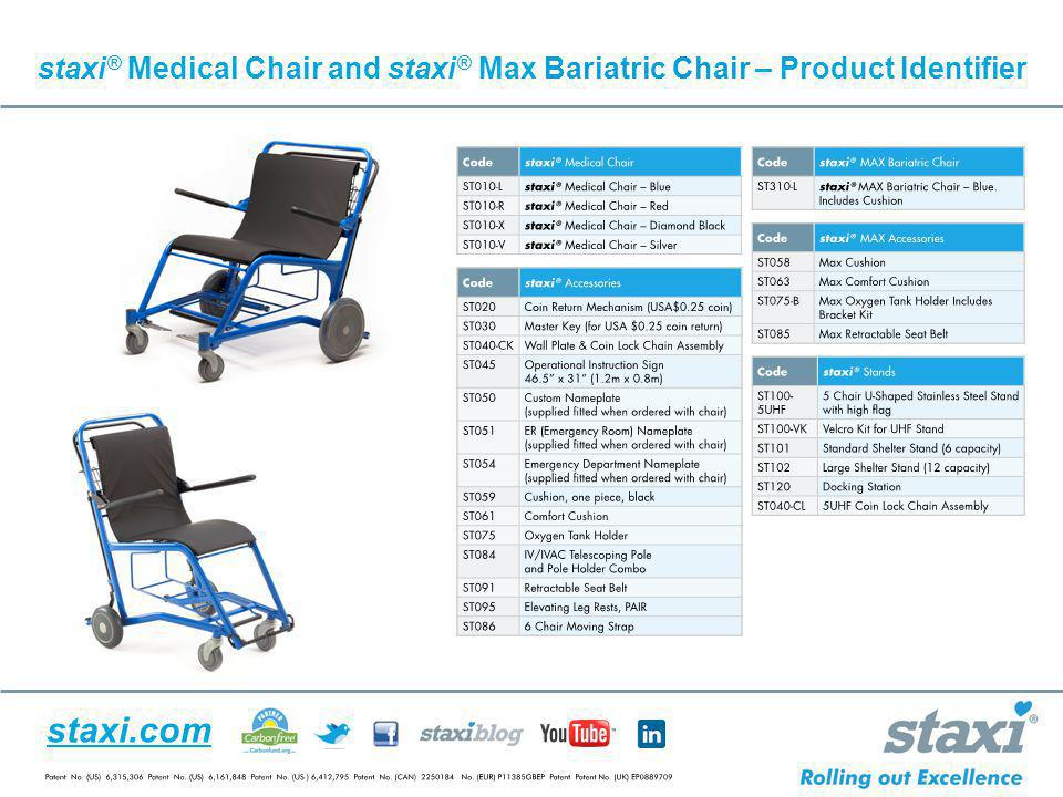 staxi.com staxi ® Medical Chair and staxi ® Max Bariatric Chair – Product Identifier