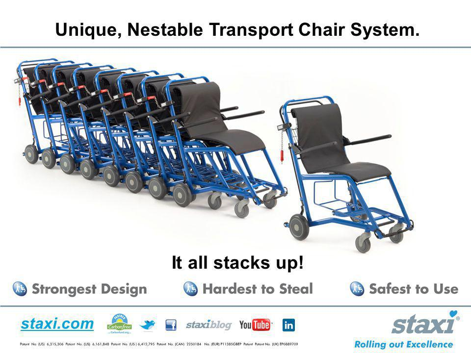 staxi.com Unique, Nestable Transport Chair System. It all stacks up!