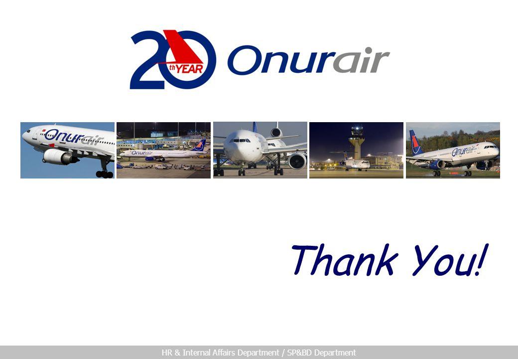 HR & Internal Affairs Department / SP&BD Department Thank You!