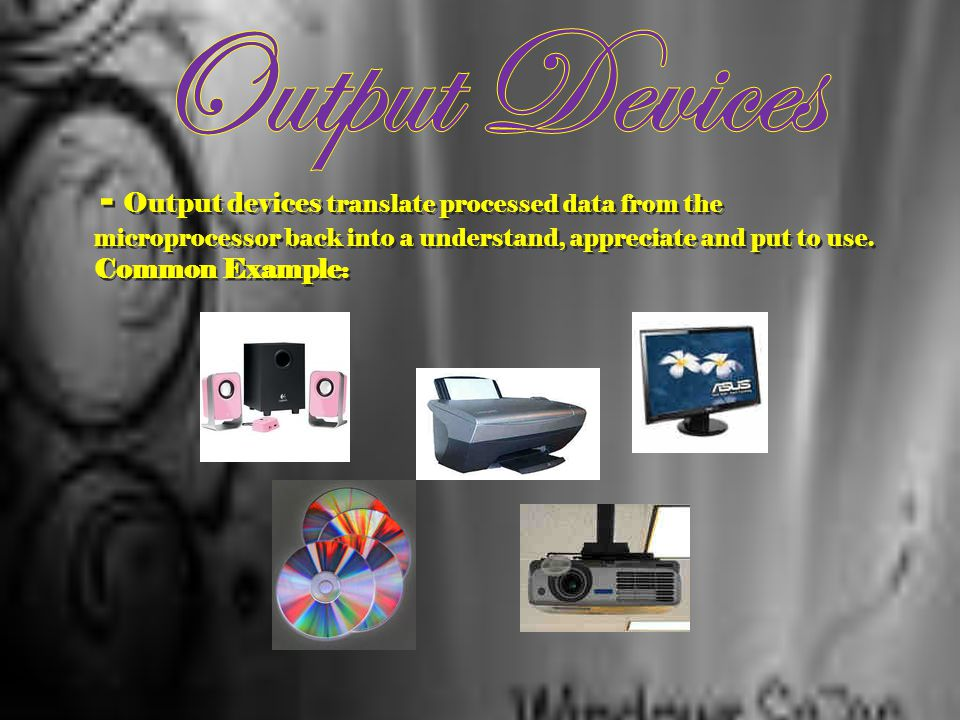 - Accept data in a form that the computer can utilize. Also, the input devices send the data or instructions to the processing unit to be processed in