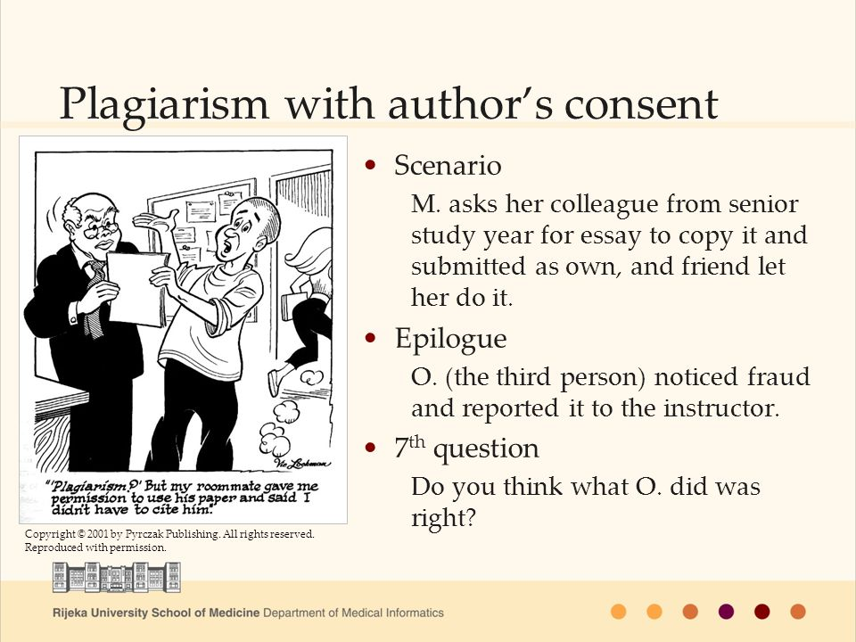 Plagiarism with authors consent Scenario M.