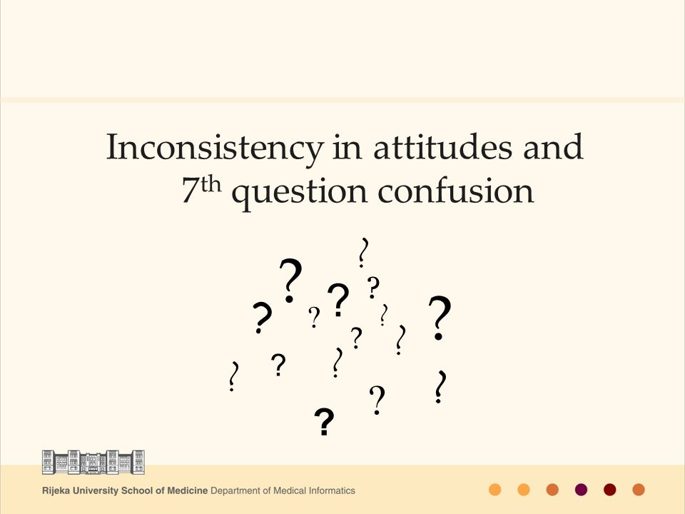 Inconsistency in attitudes and 7 th question confusion