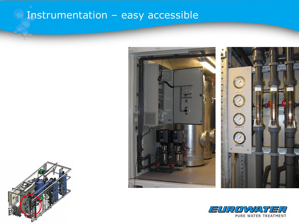Instrumentation – easy accessible